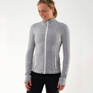 Lululemon Define Jacket Ghost Herringbone Size 8